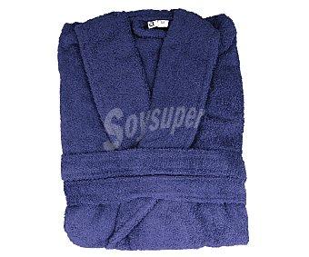 Actuel Albornoz adulto talla M, tejido rizo 100% algodón color azul, densidad de 380 gramos/metro² 1 unidad