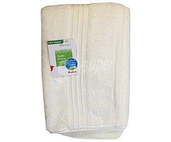 AUCHAN Toalla algodón bio para ducha, color crudo, 70x127 centímetros 1 Unidad
