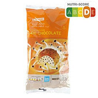 Eroski Bollo con pepitas chocolate 6u 240g 6u 240g