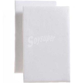 DOMBI Juego 2 sábanas bajeras ajustables en color blanco para cuna 2 unidades