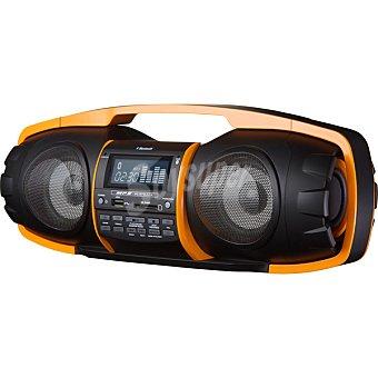 DAEWOO DBU-57 Radio Portátil con usb, lector SD y Bluetooth en negro y naranja