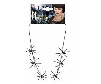 WIDMANN Collar de arañas complemento para disfraz de Halloween, 60 centímetros Collar arañas 60cm
