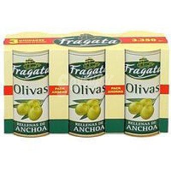 Fragata Aceitunas rellenas de anchoa Pack 3x150 g