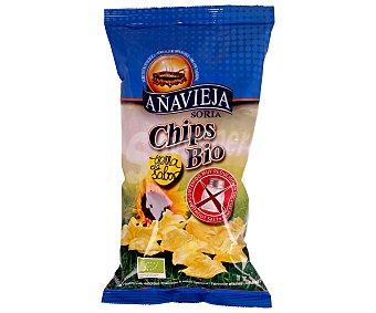 Añavieja Patatas fritas con aceite de girasol, procedentes de agricultura ecológica 125 gramos