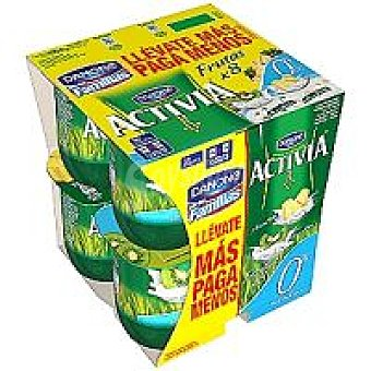 Activia Danone Yogur surtido kiwi y piña 0% Pack 8 x 125 g
