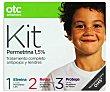 Antipiojos Kit permetrina , loción ,acondicionador y spray , 125+125+125 Mililitros otc