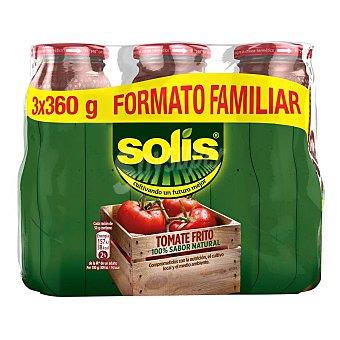 Solís Tomate frito formato familiar neto escurrido Pack 3 frasco 360 g