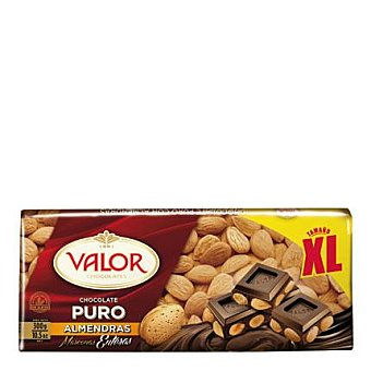 Valor Chocolate puro con almendras xl 300 g