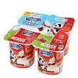 Yogur sabor fresa Pack de 4x125 g Carrefour Kids