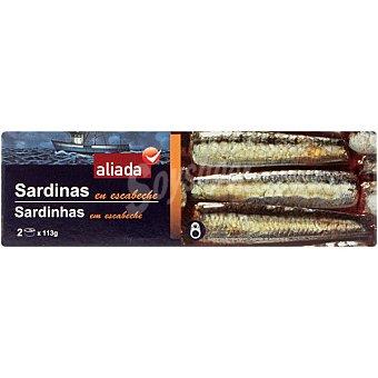Aliada Sardinas en escabeche Pack 2 lata 80 g
