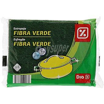 DIA Estropajo fibra verde Paquete 4 uds