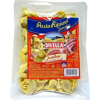 DIVELLA Tortellini de jamón Paquete 250 g