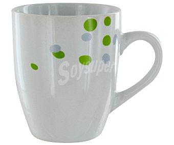 GSMD Mug o taza alta con asa modelo Lena, con capacidad de 350 mililitros y fabricada en porcelana decorada 1 Unidad