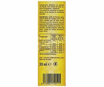 JUANOLA Pulverizador bucal para la garganta, faringe y cuerdas vocales con sabor miel-limón 30 mililitros