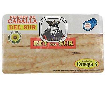 REY del SUR Filetes de caballa del sur en aceite de girasol 88 gramos