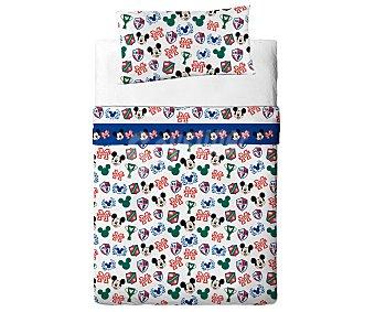 Disney Juego de sábanas 50% algodón de 3 piezas para cama de 90 centímetros, diseño Mickey Mouse 1 unidad