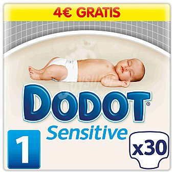 Dodot Sensitive Pañales recién nacido de 2 A 5 kg talla 1 paquete 30 unidades