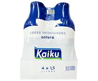 Kaiku Leche Entera 4 Botellas de 1,5 Litros