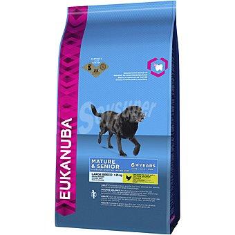 Eukanuba Mature & senior large breeds pienso para perros senior +7 años de raza grande +25 kg bolsa 12 kg con pollo 25 kg