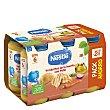 Tarrito de verduras de y pollo desde 6 meses sin sal añadida Nestlé sin gluten Pack de 6 unidades de 250 g La huerta