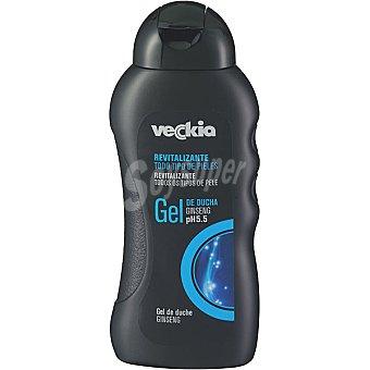 Veckia gel de baño revitalizante masculino con ginseng pH 5.5 para todo tipo de piel Bote 300 ml