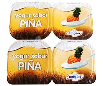 Celgan Yogur sabor Piña Pack 4 Unidades de 125 Gramos