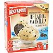 Preparado para helado de vainilla con trocitos de Oreo 6 raciones caja  175 g Royal