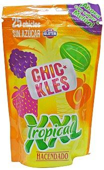 Hacendado Chicle tropical xxl grageas sin azucar Paquete 25 u