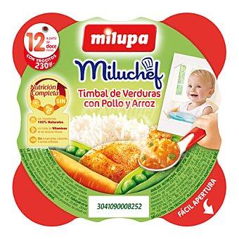 Milupa Platito timbal de verduras con pollo y arroz 230 g
