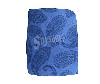 Auchan Juego de sábanas de 3 piezas con tejido pirineo 100% poliéster color azul estampado para cama de 135 centímetros 1 unidad