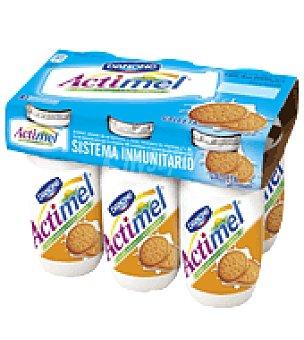 Danone - Actimel Actimel sabor galleta Danone pack de 6x100 g