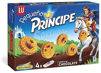Príncipe Galletas rellenas con crema de chocolate pequeño príncipe de LU pack de 4 unidades 42 gramos