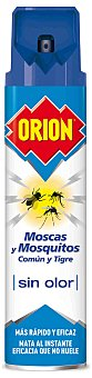 Orion Insecticida volador moscas y mosquitos comun y tigre Sensitive sin olor spray 600 ml Spray 600 ml