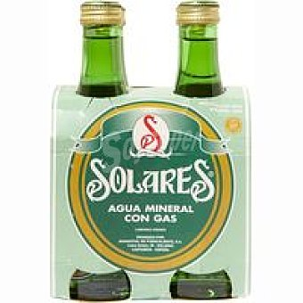 Solares Agua mineral con gas Pack 4x33 cl
