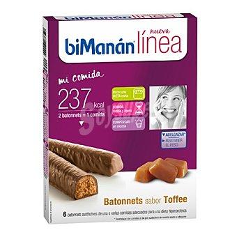 Bimanan Barritas de Toffe Dietéticas 6 unidades (222 g)