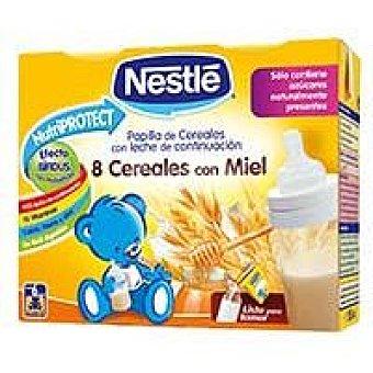 Nestlé Papilla líquida de 8 cereales con miel desde 6 meses Pack 2x250 ml