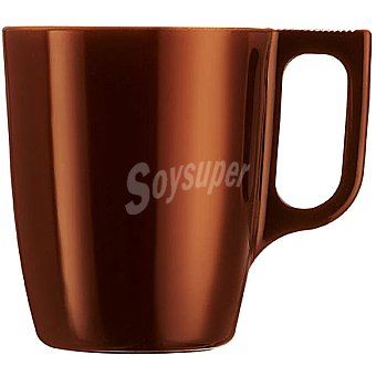 Luminarc Flashy mug de vidrio metalizado en color chocolate 25 cl