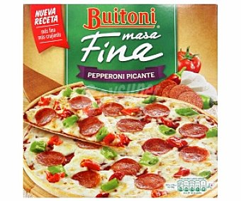 Buitoni Pizza masa fina de Pepperoni picante 320 Gramos