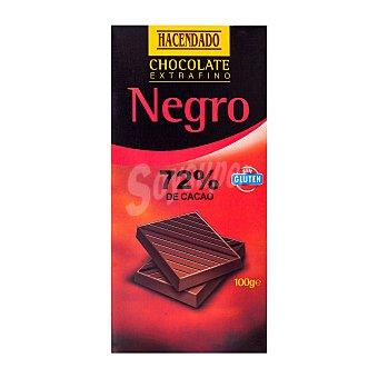 Hacendado Chocolate negro (72 % cacao) Tableta 100 g