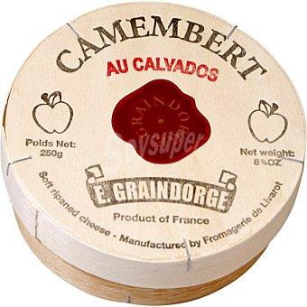E. GRAINDORGE Camembert Calvados queso de importación Francia pieza 250 g 250 g