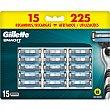 Recambio de maquinilla de afeitar Blister 15 unidades Gillette Mach3