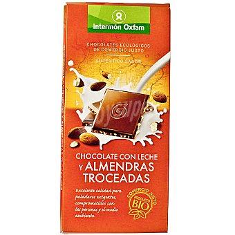 Intermón Oxfam Chocolate ecologico con leche y almendras troceadas Tableta 100 g