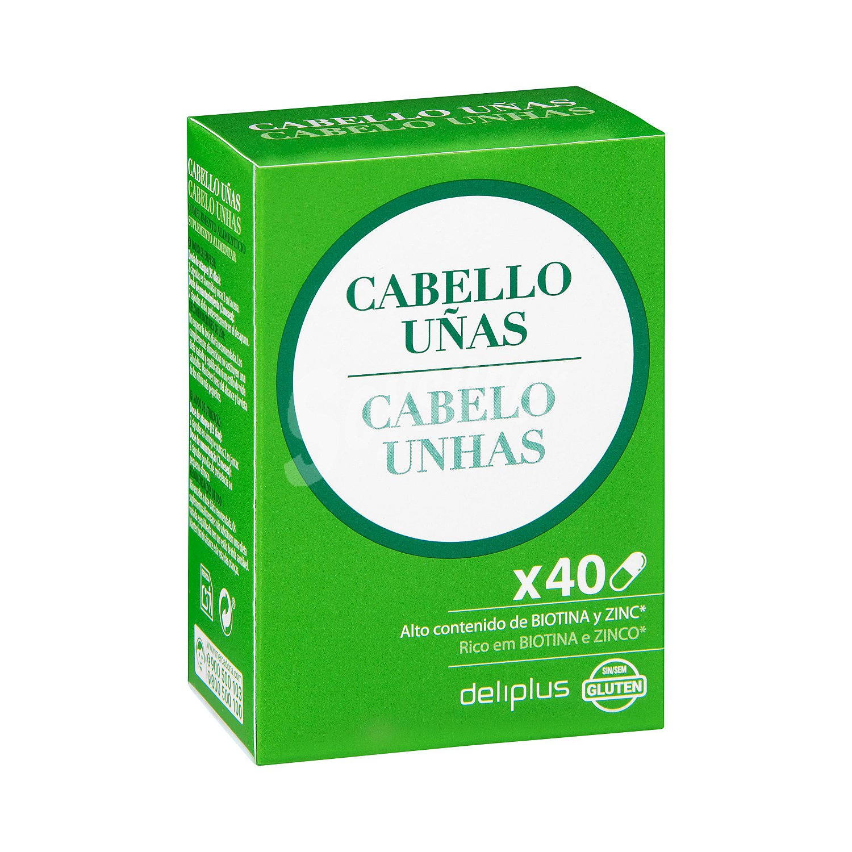 Deliplus Capsulas Para Fortalecer Cabello Y Uñas Contenido Alto Biotina Y Zinc Caja 40 U
