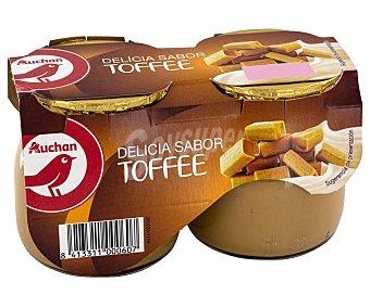 PRODUCTO ALCAMPO Postre lácteo con sabor a toffee 2 x 135 g