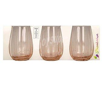 PASABAHCE Linka Pack de 3 vasos Linka de vidrio color rosa, 0,38 litros, PASABAHCE. Pack de 3 vaso
