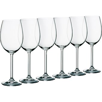 CASACTUAL Bohemia Copas de Vino de cristal 45 cl set de 6 unidades 45 cl