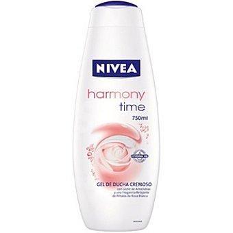 Nivea gel de baño Harmony Time leche de almendras y fragancia de pétalos de rosa blanca Bote 750 ml