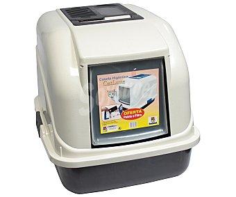 San Dimas Caseta higiénica para gatos 50 x 40 x 40 cm con filtro para los malos olores 1 ud