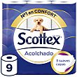 Papel higiénico acolchado 3 capas paquete 9 uds Scottex