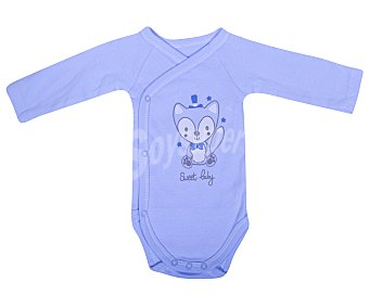 In Extenso Lote de 3 bodies cruzados de manga larga de algodón, color azul, talla 46 3u